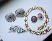 1980s Lot of Jewelry - four pieces - Les Bernard - Mark Spirito - it gioiello de firenze