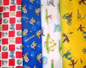 CURIOUS GEORGE #2  fabrics, sold individually,not as a group, sold by the Half Yard, please see body of listing