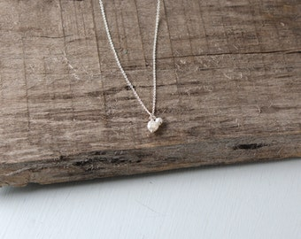 Double Freshwater Pearl Necklace.  Sterling Silver and Pearl Necklace.