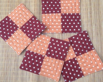 Fall quilted coasters - set of 4