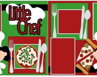Little Chef 2-page 12x12 do-it-yourself scrapbook kit