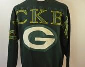 Vintage GREEN BAY PACKERS 1992 Sweatshirt usa made Cliff Engle sleeve print