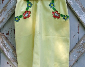 hippie mama - vintage 70s a line skirt