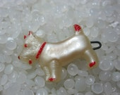 vintage  barrette,  sweet  pink Scottie dog