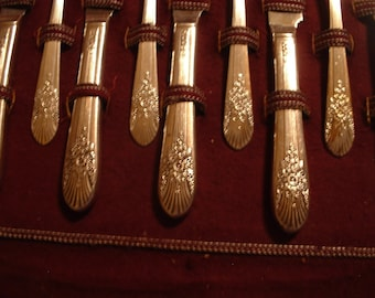 Vintage William Rogers Silverware eight piece setting SALE Reduced Price