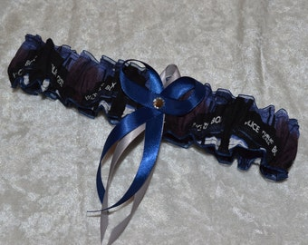 Handmade wedding garter Dr Who wedding garter toss garter