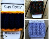 Crochet Cup Cozy/Crochet Coffee Cozy/Crochet Tea Cozy/For those hot cups/Ready to Ship