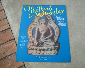 1935  vintage sheet music (  On the road to Mandalay )