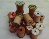 20 Empty Wooden Spools for Craft