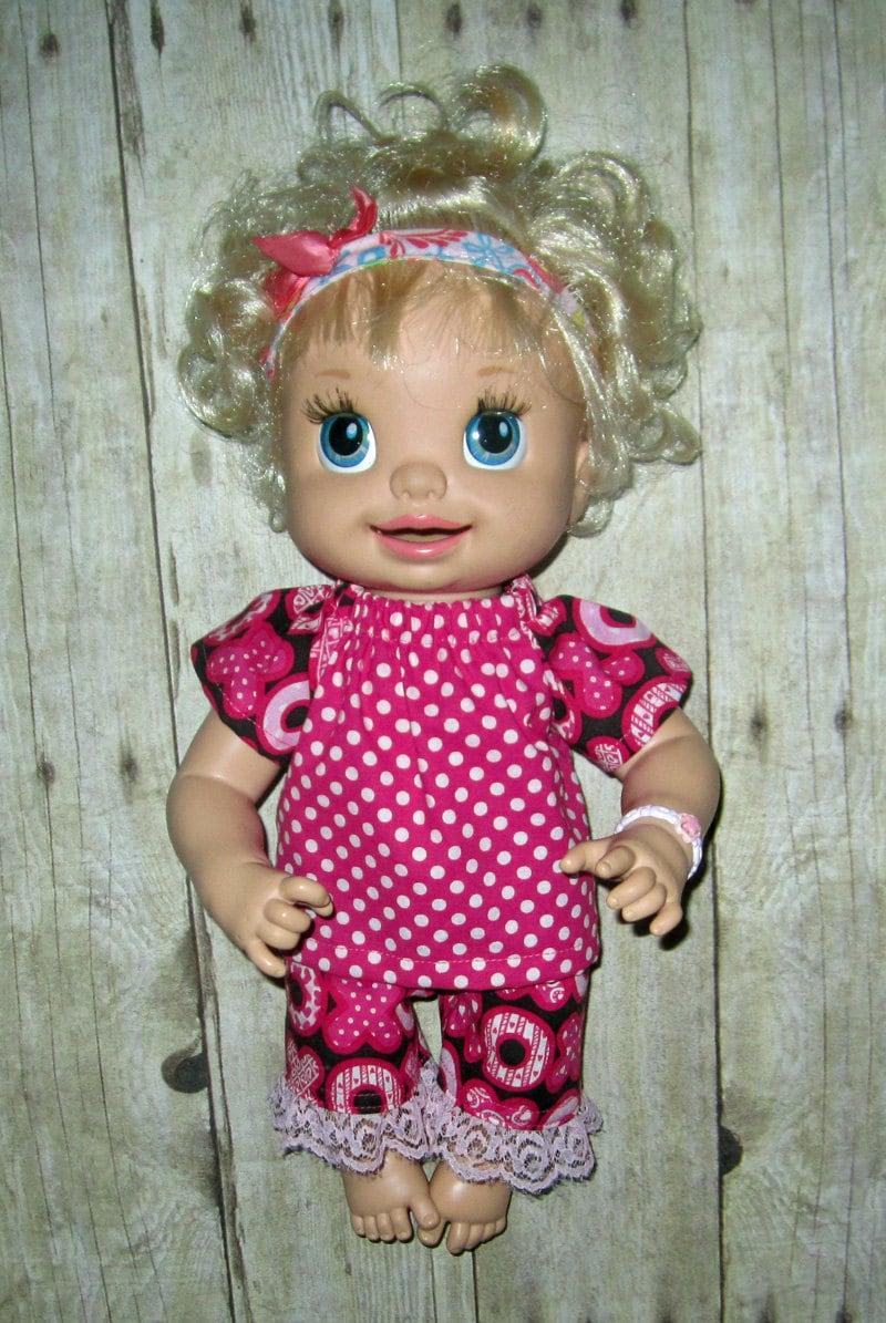 Snackin Sara Baby Alive Doll Clothes X S and O s Capri