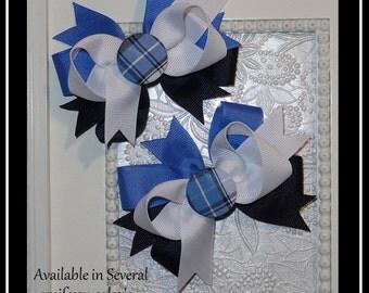 School Uniform hair bow, School Plaid Hair bow, Back to school hair bows,match her school uniform hair bows,