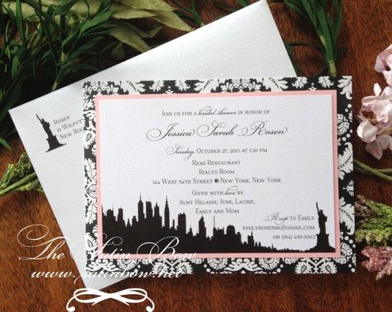 Items Similar To New York City NYC Bridal Shower Invite