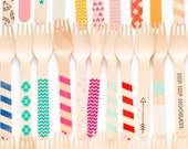 Variety Pack - 20 Wooden Utensils - As Seen In July Press
