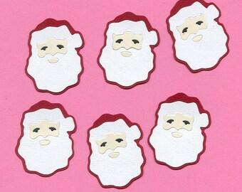 Lot of 6 Old World Santa Head Die Cuts