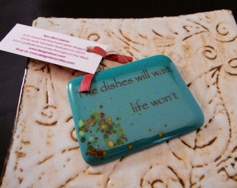 The Dishes Will Wait Mini Stand-up Plaque