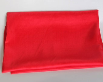 Chinese Red Habotai Silk - Sold by the Yard - Unhemmed