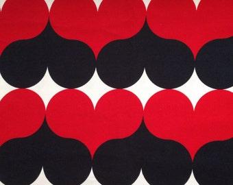 Retro style hearts fabric