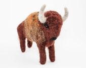 Needle Felted Buffalo (Bison)