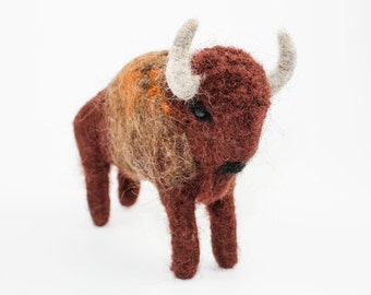 Needle Felted Buffalo (Bison)