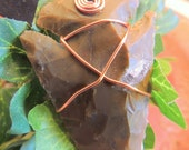Arrowhead Pendant, Copper Wire Wrap, Handcrafted Jewelry, Native Style, Tribal Jewelry, Gift for Him, Father's Day
