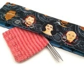 Stitch Holder Point Protector Zipper Pouch Needle Nook - DPN and Circular Project Holder - Star Trek - Engage