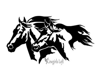 Trailer Decal Etsy - Horse decals for trucks