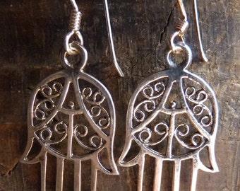 Sterling Hamsa earrings