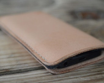 Galaxy S8, Galaxy S8+ Leather Sleeve  - PURE, Organic Leather