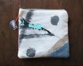 the neutral elements pouch #2 ... one of a kind, hand painted, zip top pouch