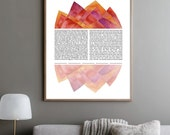 Reflection Ketubah || Jewish wedding contract illuminated wedding vows