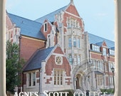 Agnes Scott College, Decatur, Georgia, Landmark Marble Stone Coaster. Mix and Match With My Other Coasters To Make A Set..