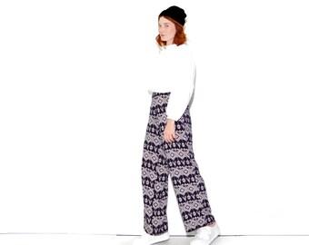 Vintage PALAZZO PANTS medium large / high waisted pants yoga pants hippie pants ethnic tribal fabric harem pants boho pants wide leg pants