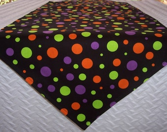 "Halloween 36"" Table Runner, Polka Dots, Small Runner, Cloth Table Runner, Tabletop Runner"