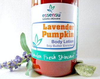 Lavender Pumpkin Luxury Botanical Natural Body Lotion | Vegan | Rejuvenating Soya Butter | Customer Favorite | Jumbo Backbar Size - 16 oz