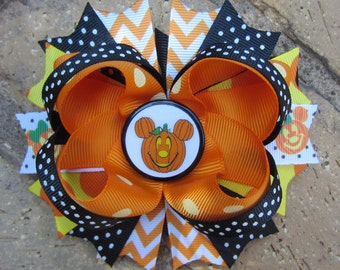 Mickey Mouse Minnie Mouse Disney Halloween Boutique Fun Funky Boutique Hair Bow