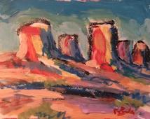 Mesas and Buttes, Southwest art, western painting, New Mexico, Southwestern Art, Western decor desert scene, Russ Potak