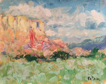 Southwest Impressionist Painting, Mesa and prairie, New Mexico Landscape Painting