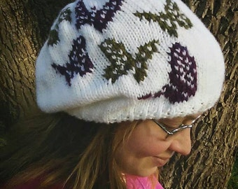 Butterfly Slouchy Hat