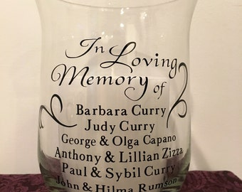 Memory Candle for Wedding Ceremony - remember loved ones who have passed