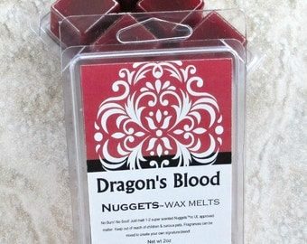 Dragon's Blood scented wax melts, Strong paraffin wax tarts, classic incense fragrance