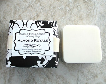 Almond Royale Scented Soap, top seller, shea butter soap, Simple Indulgence, delicate almond fragrance with cherry