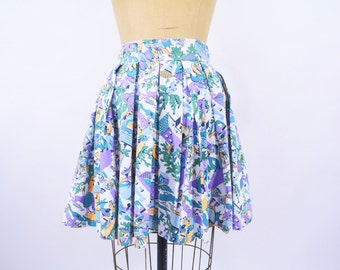 "1950s skirt vintage 50s Mexican sombreros novelty print short skirt S W 26"""