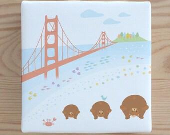 Rajio Taiso Canvas Art - San Francisco, Print, Nursery
