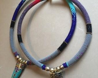 Himalayan stone dagger necklace