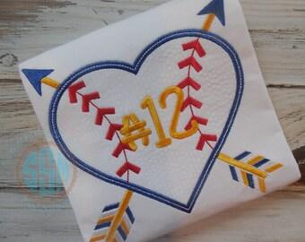Baseball Heart Arrowa Applique Shirt for Boy-Brothers Biggest Fan