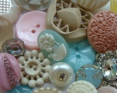 3 Dozen Plus Antique Buttons Vintage Glass Buttons Rhinestone Wedding Button Jewelry Collection Lot N0 38