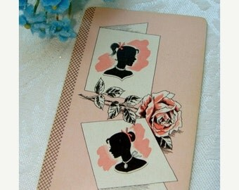 20PercentOff Antique Pink Roses and Silhouette Playing Cards Lot