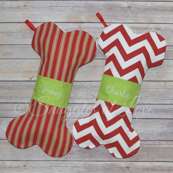 Dog christmas stockings personalized dog stockings for Personalized dog christmas stocking