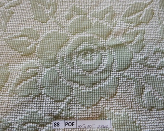 """one pieces light Green vintage Hobnail Chenille Fabric 41""""x 50"""" (88-POF)"""