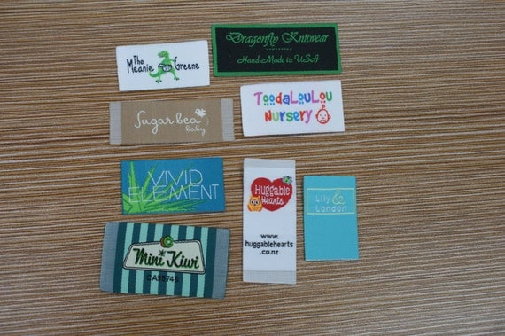 300X Custom Artwork Taffeta Clothing Woven Labels free font styles colors never fade - professional quality free design service and shipping